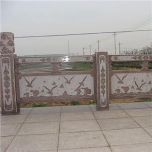 五莲红浮雕桥栏板